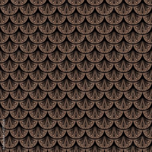 art-deco-wektorowy-geometryczny-wzor-w-brown-kolorze