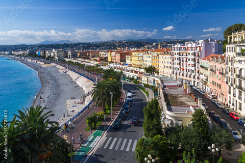 Deurstickers Nice Aerial view of Nice city, French Riviera, Provence, France