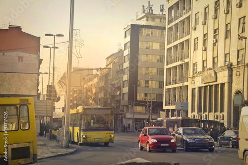 Fototapeta Traffic in the city  obraz na płótnie