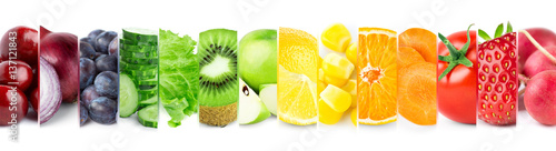 Poster Fruit Mixed fruits and vegetables