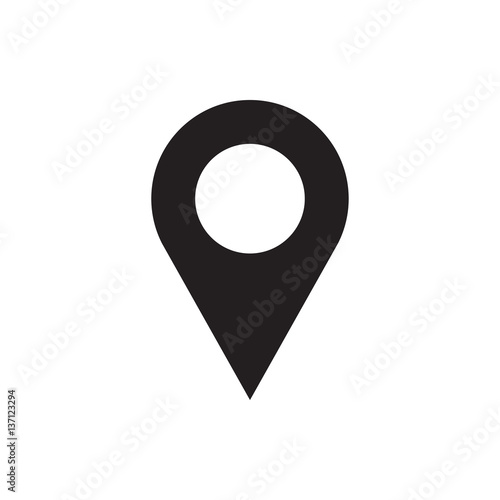 Cuadros en Lienzo location icon illustration