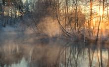 Foggy Morning  Dramatic Wintry...