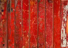 Colorful Vibrant Red Wooden Pl...