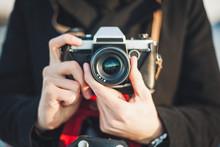 Hipster Photographer Taking Ph...
