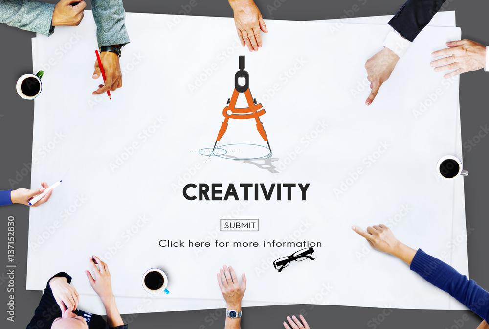 Fototapety, obrazy: Creativity Aspiration Inspiration Inspire Skills Concept