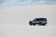 4X4 In White Sand Dunes