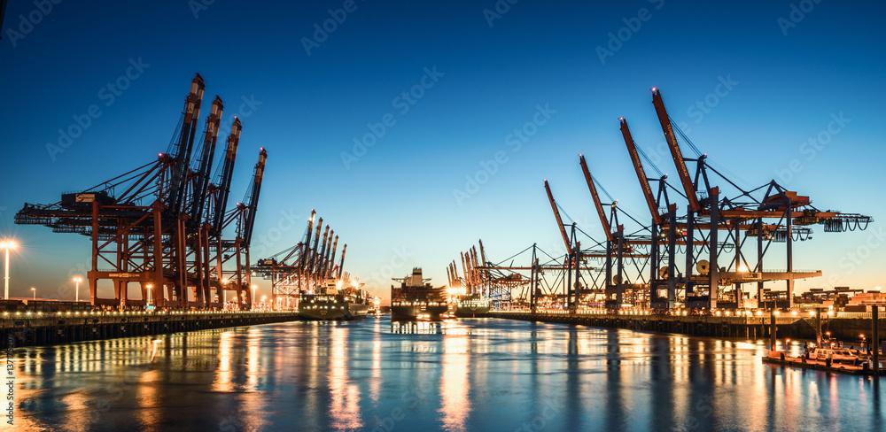 Fototapety, obrazy: Hamburg Containerhafen