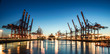 canvas print picture - Hamburg Containerhafen