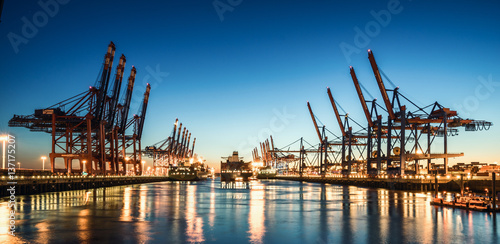 Canvas Prints Port Hamburg Containerhafen