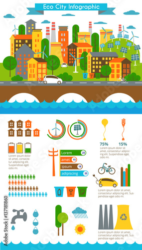 environment ecology infographic elements ecosystem can be used for background layout