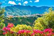 Leinwanddruck Bild - Mountain village in Madeira island, Portugal