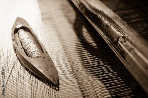 Slika na platnu old weaving loom