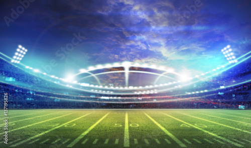 Spoed Foto op Canvas Stadion american football stadium 3D.