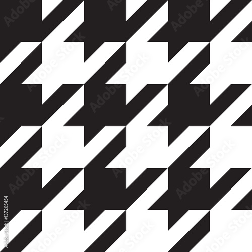 Houndstooth black and white classical seamless pattern, big elements Canvas Print