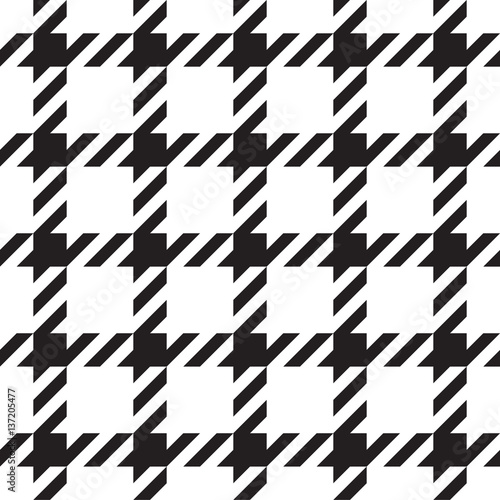 Photo  Classical tartan black and white seamless pattern.
