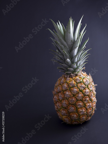 Fototapety, obrazy: Pinapple isolated on black background