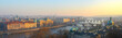 Prague Panorama view with River and Town Center