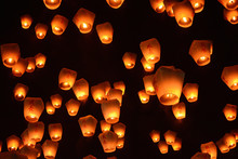 Thousands Of Lanterns Fill The...
