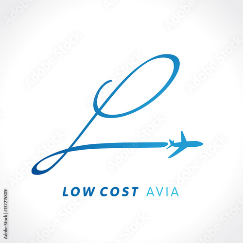 l letter travel low cost company logo airline business travel logo design with letter