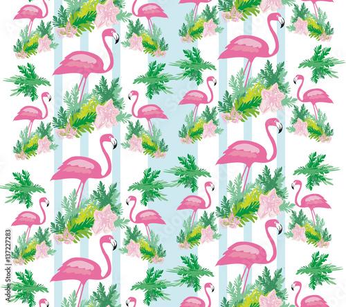 bezszwowy-ptaka-flaminga-wzor