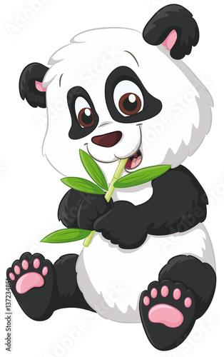 78396a694c1fad Niedlicher Panda Vektor-Illustration - Buy this stock vector and ...