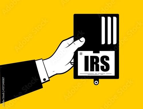 Man hand showing IRS id Fototapeta