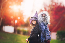 Friends Dressed As Witch And Z...