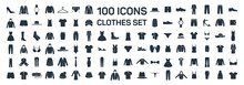 Clothes 100 Icon Set On White ...