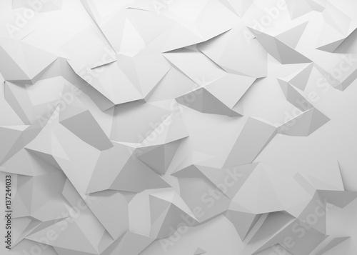 Obraz na plátně White polygonal triangle geometric texture