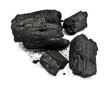 Piece Of Fractured Wood Coal