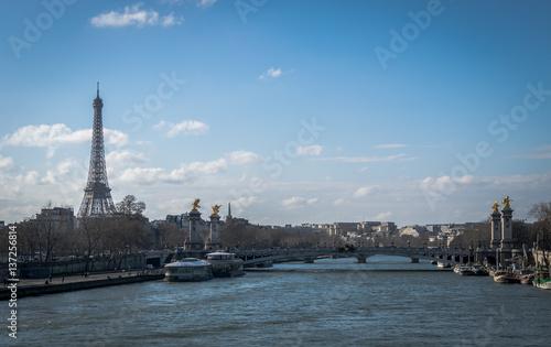 Deurstickers Eiffeltoren Pont de Seines