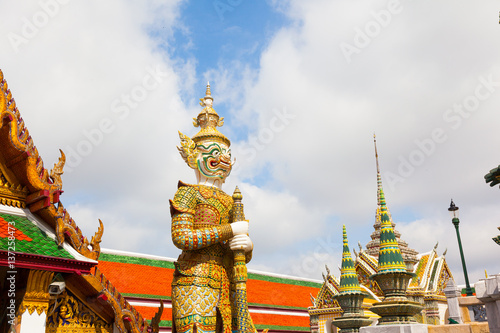 Demon Guardian in Wat Phra Kaew Grand Palace Poster