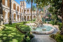 Cloister In Palazzetto Venezia In A Sunny Morning, Rome