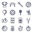 Set of 16 competition outline icons