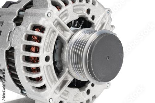 Closeup image of car alternator Canvas Print
