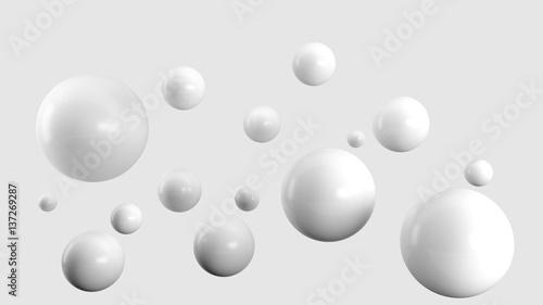 High gloss white balls background - 137269287