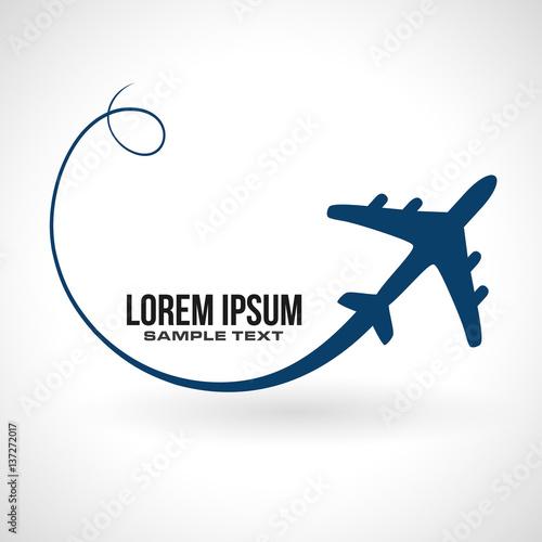 Fotografie, Obraz  airplane flight icon silhouette