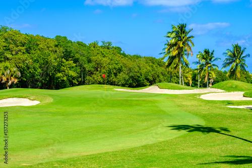 Deurstickers Golf Beautiful golf course