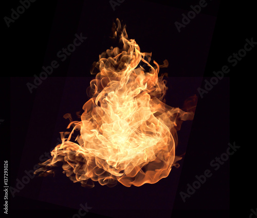 Fotobehang Vuur The red flames