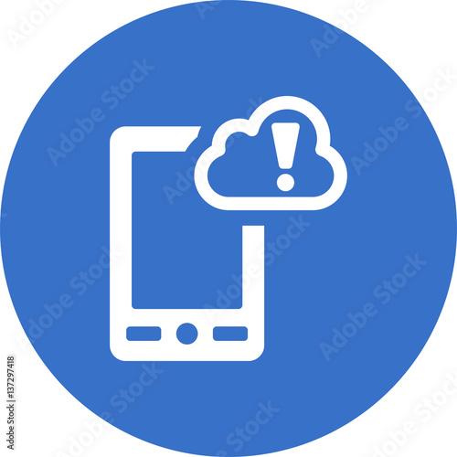 Photo warning phone icon
