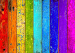 colorful vibrant rainbow wooden planks background texture pattern / holz hintergrund bunt regenbogen farbenfroh vorlage textur