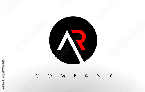Photo AR Logo.  Letter Design Vector.