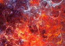 Abstract Red Hot Surface And S...
