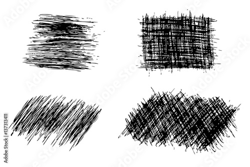 Fototapeta Various shape of Streak with pen obraz na płótnie