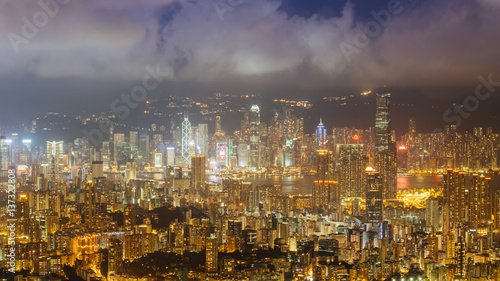 Photo Stands Kuala Lumpur Hong Kong city at night in hong kong