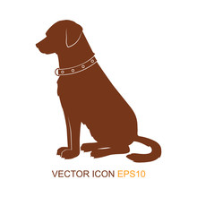 Dog Silhouette. Dogs From The Side. Logo. Vector Illustration.