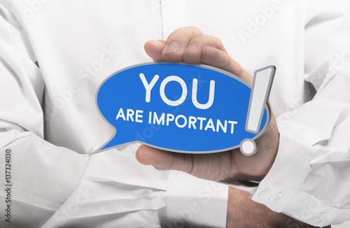 Fotografie, Obraz  You are Important Quote, Self-Confidence Concept