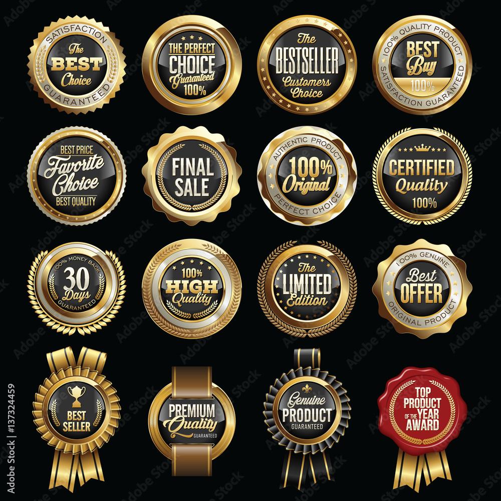 Fototapeta Set of Luxury Sales Quality Badges.