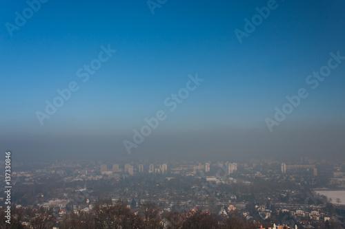 Smog in Cracow, Poland Poster