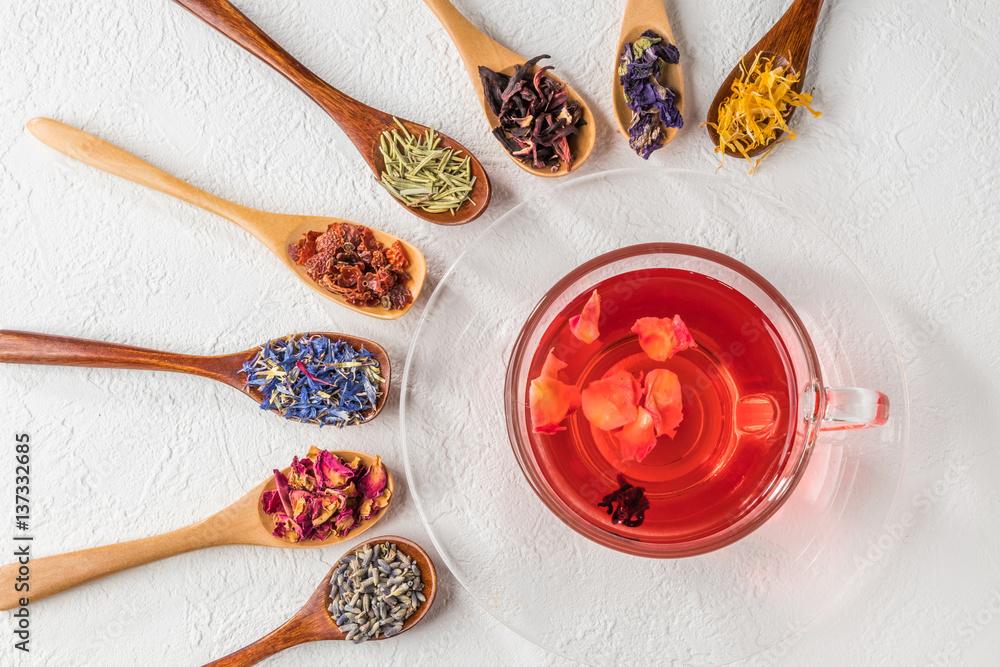 Fototapety, obrazy: きれいになるハーブティー  Beautiful herb tea